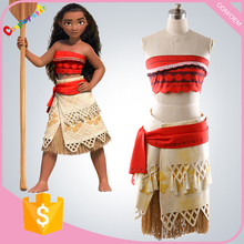 OEM Custom Service Moana Waialiki costumes costume suit for kid