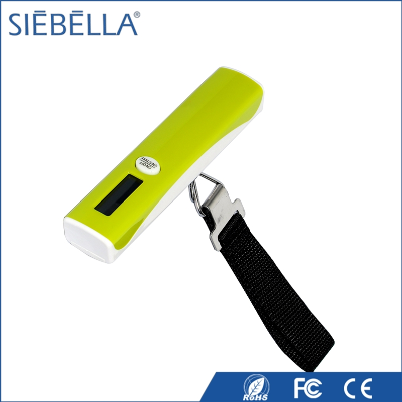 High class promotional LCD display 50kg mini digital luggage strap and scale
