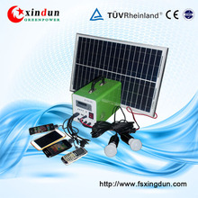 10w 20w 30w mini solar power system solar home kit for camping