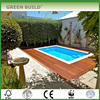 Anti Scraped Smooth Solid Merbau Wood Decking Teak color
