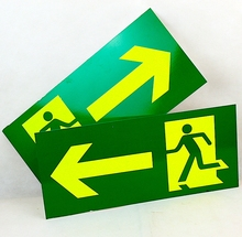 Manufature Green Running Man Rignt Left Direction Luminous Emergency Exit Sign