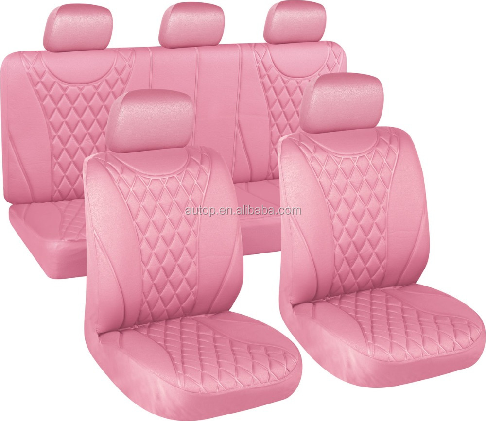 Autop 2016 Fashion Design Universal Pink Quilted Car Seat Cover
