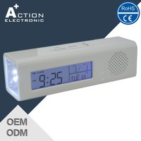 Cheap radio digital table clock with CE and ROHS