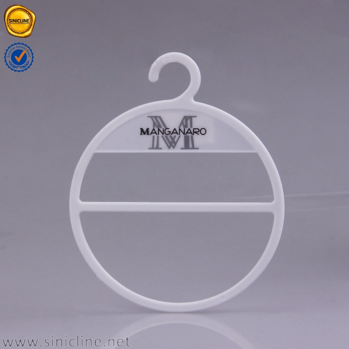Sinicline new design custom embossed logo round hanger for fabric samples