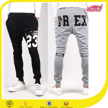 Grey and Black casual jogger pants gym men sportswear mens designs jogger pants men cotton jogger pants