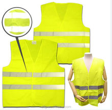 Safety Running Reflex Binding Vest In 120gsm Fluorescent Polyester Fabric