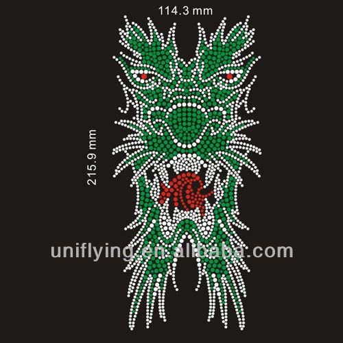 hot fix rhinestone dragon design