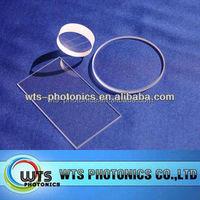 WTS custom optics, optical flat, optical window display