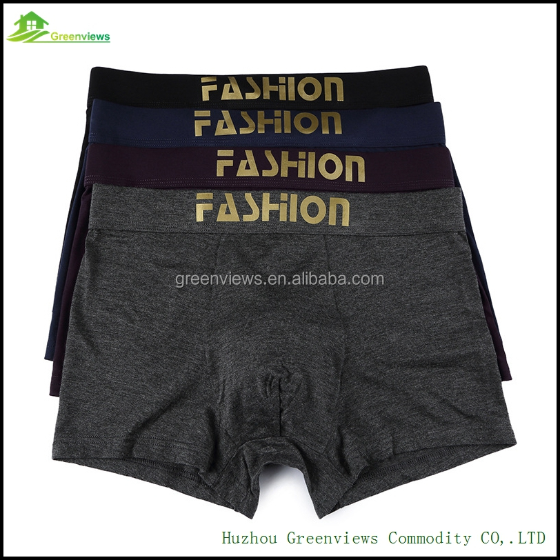 China bamboo fiber underwear boxers boys mens panties boxers shorts logo fashion seamless underwear for sale