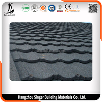 Anti-fade stone coated metal roof tile/roof shingle for sale
