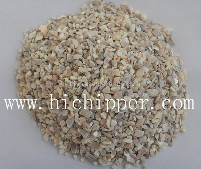 Natural crushed mother of pearl chipping for artifical stone decoration