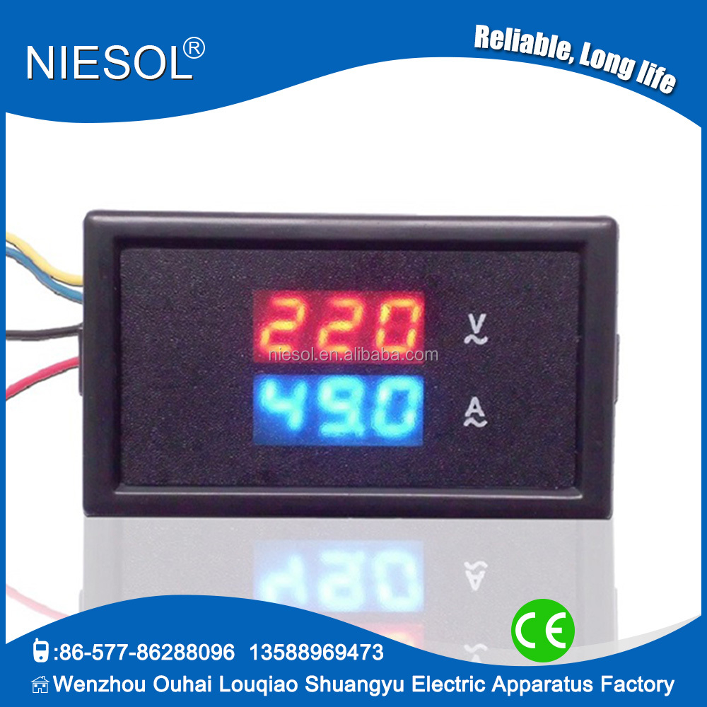85DM2S-300V/50A AC digital ac voltmeter and ammeter , volt and amp panel meter