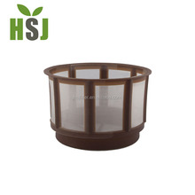 ADC-permanent auto drip coffee filter round basket style nylon mesh reusable