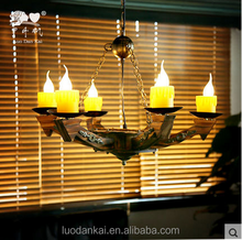 European style old wooden house cafe room chandelier for wholesale