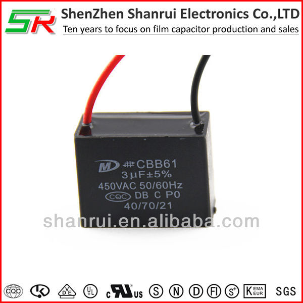 3uF 450v Wire Lead Air Conditoner Capacitor CBB61