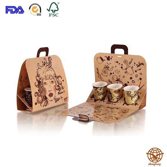 Customized Coffee Carrier Bag with Handle