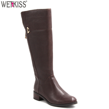 Factory Wholesale Handmade Leather Boots Shoes Knee High Horse Riding Boots Women Shoes