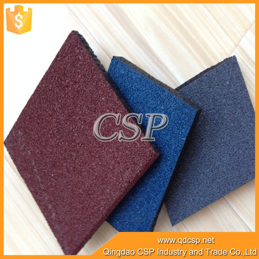 Easy construction Non-slip rubber tiles recycled plastic pavers