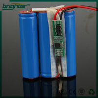 Safety protection 12v 18650 li-ion battery pack for electric bike