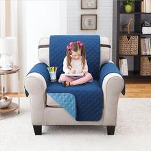 Waterproof quilted pet recliner sofa covers Reversible Furniture Protector, Features Elastic Strap