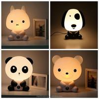 Baby Room Panda/Rabbit/Dog/Cat Cartoon baby Night Sleeping Light