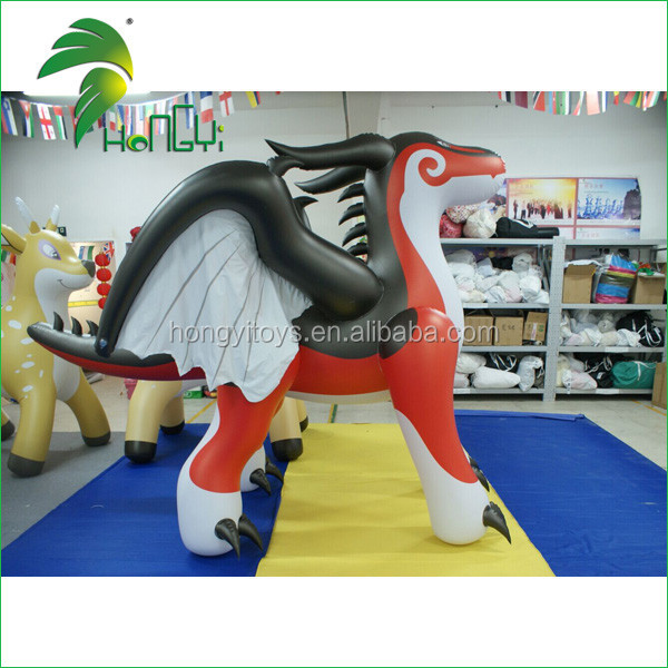 Excellent Custom Large Inflatable Cartoon Dragon PVC Animation Model For Sale
