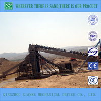 Rirver sand bucket chain mining dredger with washer&magnetic separator