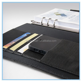 Hot-selling! Zippered colourful Leather portfolio, A4 portfolio for phone, leather portfolio case made in China