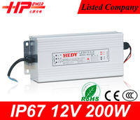 Good service Guangzhou factory price led switch power constant voltage single output 200w 12v ul listed power supply