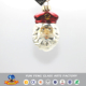 Glass crafts Christmas tree decorations white beard Santa hanging ornaments