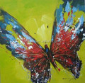 Handpaint Acrylic Butterfly Painting,Fashion Painting 52653