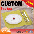 RENJIA custom heat resistant kitchen placemats restaurant plate mats rubber silicon table mat