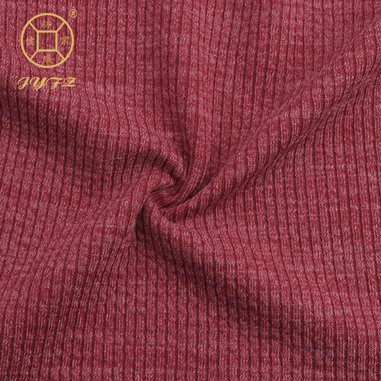 guangzhou <strong>poly</strong> stretch customized yarn dye rib knitted fabric