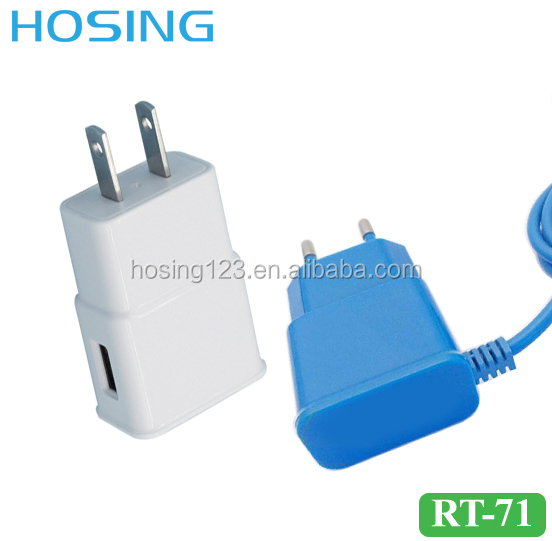 Portable Phone Charger 2A/1A Multi Output Power Adapter 8 pin/Micro USB Cable