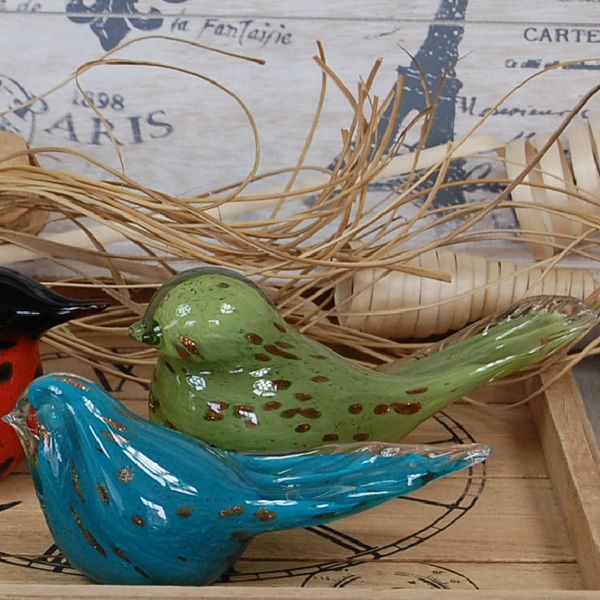 Handcraft Wrought Bird Glass Figurines