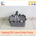 New style folding oxford shopping basket with cover and heat preservation