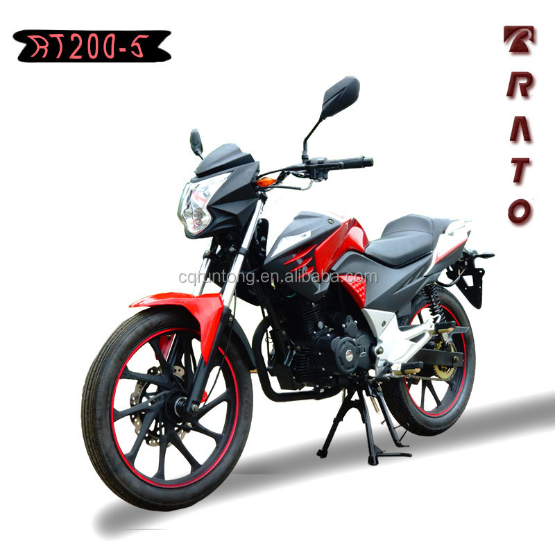RATO new design chain drive model motorcycle 200cc with LED head light