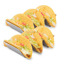2-3 Compartments Stainless Steel Taco Holder, Mexican Food Taco Rack Shells F0455