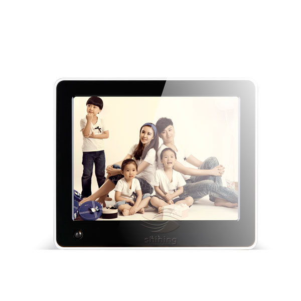 8inch Wholesale remote control digital photo frame motion sensor aido player