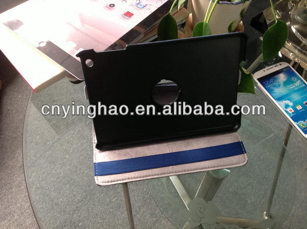 Top quality hot sell leather bumper case for iPad mini