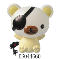 One Eye Cool Cartoon Bear Table Night Lamp with Rechargetable Wire Plug