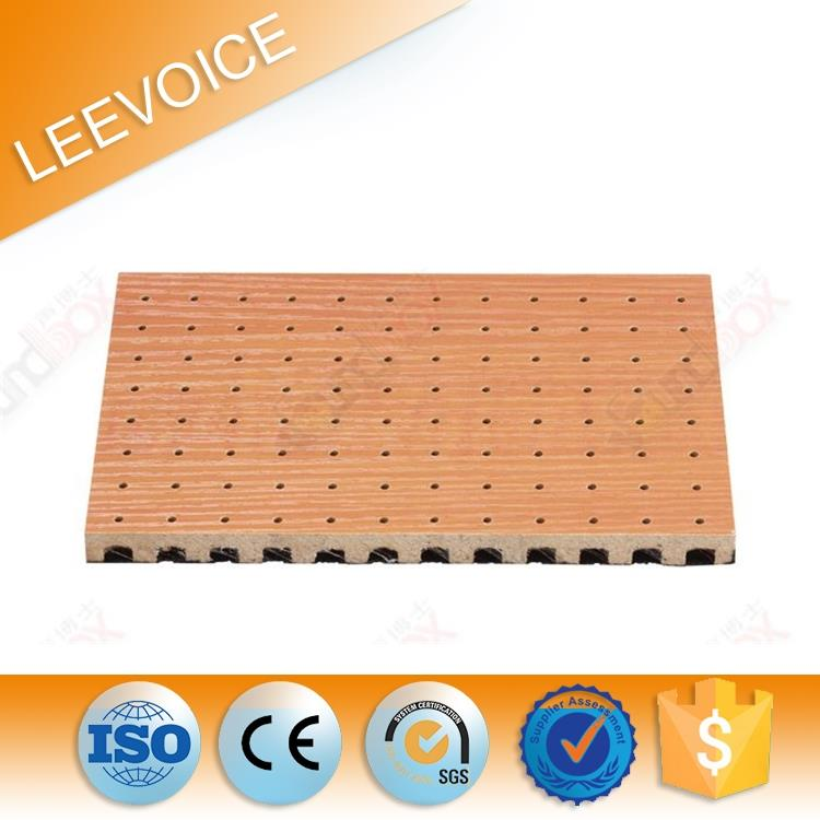 16/16/5mm MDF Wooden Perforated Acoustic Panel with FR MDF