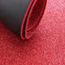A4 Size Glitter Sparkling EVA Foam Sheet Black PU Coated Custom Goma Foamy Sheets Manufacturer
