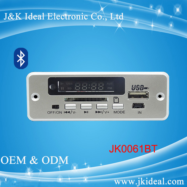 JK0061BT usb fm player bluetooth mp3 mp4 mp5 module