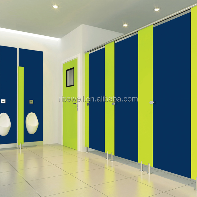 Debo phenolic resin compact density fibreboard public toilet cubicle holding safe toilet cubical