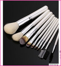 Zealhoney 10Pcs Makeup Brushes Set Beauty Professional Foundation Eyeshadow Eyebrow Eyeline Mascara Lip Brushes Cosmetic Tools