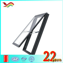YH China supplier good price grill design glass aluminium awning window