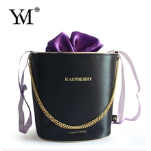 2015 fashion gift luxury lady satin cosmetic trolley makeup bag