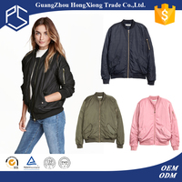 High Quality New Design Cheaper Thin Cotton Zipper Custom Woman Jacket