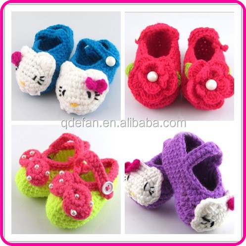 Animal Pattern Hello Kitty Crochet Baby Shoes Pattern ...